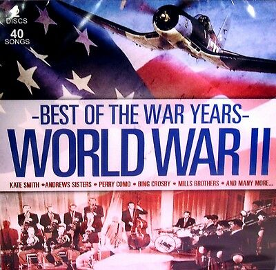 Best of the War Years World War II Music 2 CD Bing Crosby Kate Smith Perry