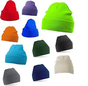 MB-SOFT-FEEL-KNITTED-BEANIE-CAP-BEANY-WINTER-TURN-UP-HAT-14-COLOURS-QUICK-POST