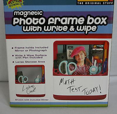 Lockermate Locker Magnetic Photo Frame Box – Black –