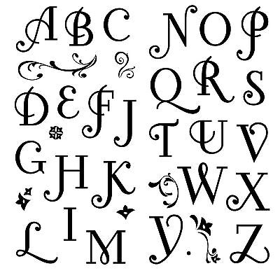 Alphabet Clear Unmounted Rubber Stamps Set 34 Stamps Inkadinkado 97731
