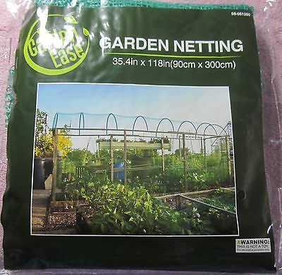 Garden Ease Yard Netting Anti Bird  Rodents Garden Mesh 35 4 X118  New