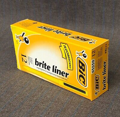 Bic Brite Liner Highlighter Chisel Tip Yellow 12-count