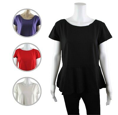Womens New Look Tunic Peplum Skater Top Frill Flared Plus Size 18 to 28 Ladies