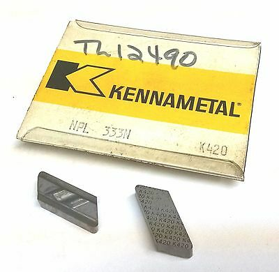 10 Pcs Kennametal Top Notch Npl 333n Indexable Tool Holder Carbide Inserts K420