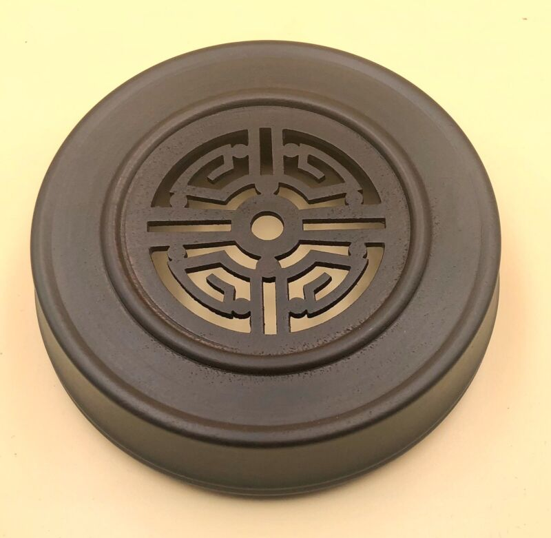 """5.25"""" Brown Chinese Oriental Wooden Lid Cap Cover for Ginger Jar and Vases"""