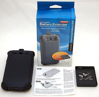 100 x BULK Samsung Galaxy S3 Phone 1620mAh Battery Extender Case tough belt clip Cell Phone Battery Belt Clip