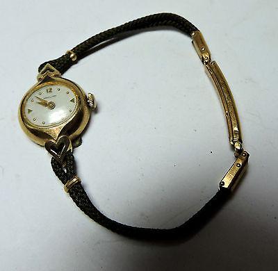 Antique Vintage Deco HAMILTON Trilby 10k Yellow Gold GF Wrist Watch Working #Z31