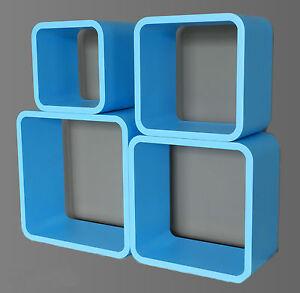 Set 4 mensole cubo legno scaffale libreria porta cd - Libreria cubo ikea ...