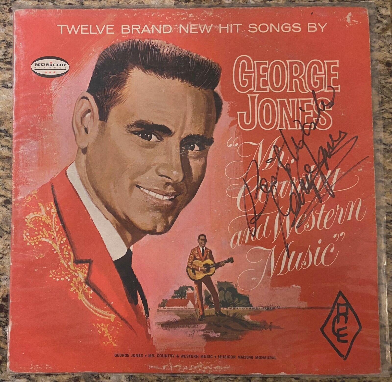 Vintage George Jones Signed Mr. Country and Western Music Album on Vinyl