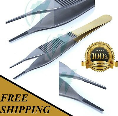 Tc Adson Dressing Forceps 4.75 Serrated Surgical W Tungsten Carbide Insert