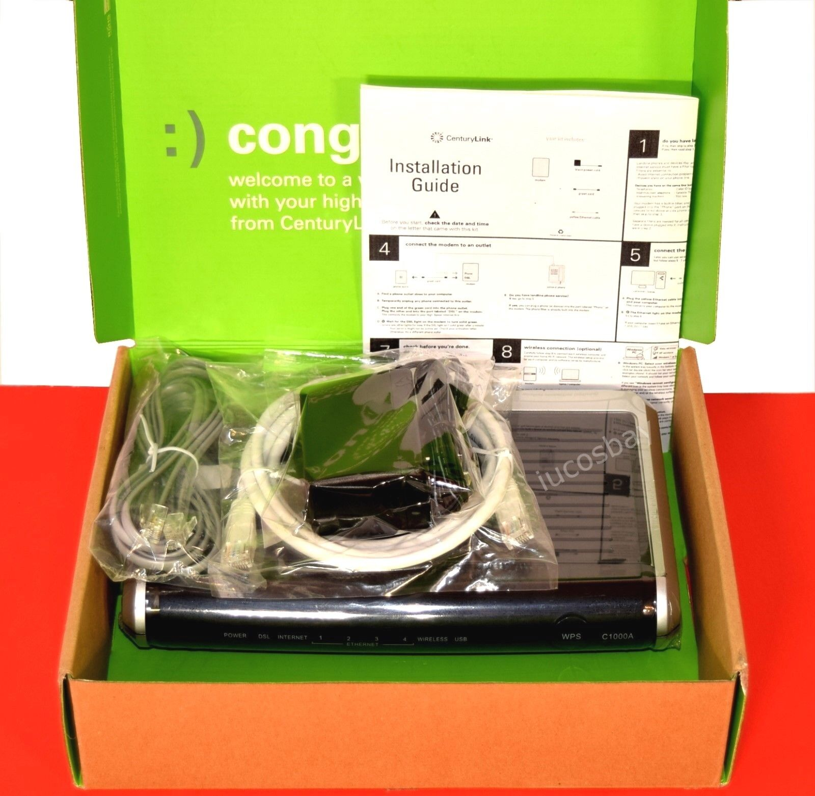 Actiontec CenturyLink C1000A 802 11N Wireless N Router Gigabit Modem Sealed