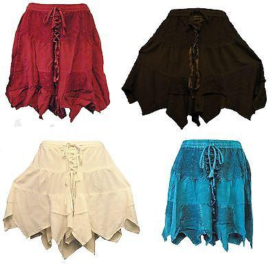 Medieval Renaissance Corset Style Fairy Skirt - Black, White, Teal, Red 271 ](Renaissance Corset)