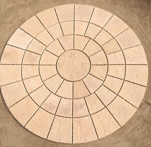 2.56M COMPASS ROTUNDA circle patio stone paving FREE DELIVERY - NOTE EXCEPTIONS