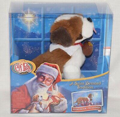 NEW Elf On The Shelf Pets St SAINT BERNARD TRADITION BOOK AND DOG Plush Toy