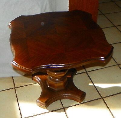 Veneer Pedestal (Walnut Veneer Pedestal End Table / Side Table )