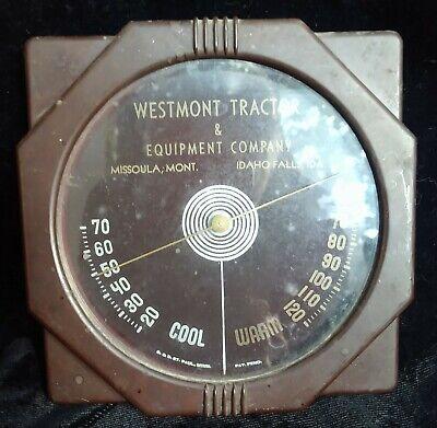 Vintage thermometer Tractor Equipment Westmont