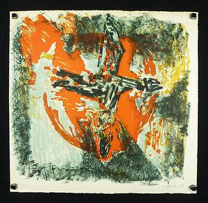 Jean-Jacques MORVAN (1928-2005) ABSTRAIT 35 ex.Peintre officiel de la Marine - France - Jean-Jacques MORVAN (1928-2005) LITHOGRAPHIE ORIGINALE CIRCA 1971 TIRÉE SUR LES PRESSES DE JACK RENAUD SUR BEAU PAPIER RIVES BFK Tirage 35 exemplaires uniquement . Parfait état Dimensions : 56 cm x 59 cm Jean-Jacques MORVAN fut également comé - France