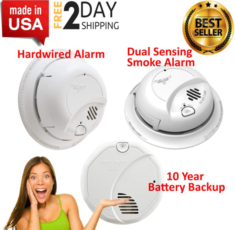 First Alert Brk Hardwired Smoke Alarm Detector Battery 9V