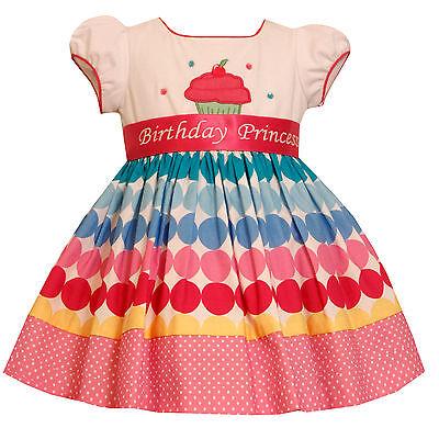 Bonnie Jean Girls Princess Polka Dot Cupcake Birthday Dress 12 18 24 Months