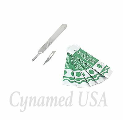 10 Sterile Surgical Blades 10 11 With Free Scalpel Knife Handle 3