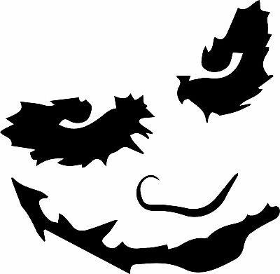 Window Wall Display Spooky Halloween Silhouette Decal Vinyl Sticker The Joker ()