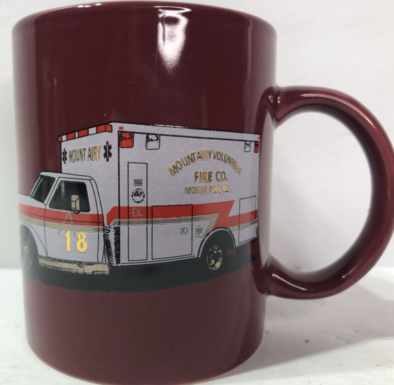 '94 Mount Airy MD Vol. Fire Dept. Ambulance #18 Ladies Aux. Donation Coffee Mug