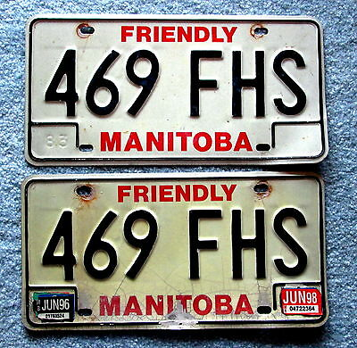 1983 Manitoba License Plate 469 FHS BUY ONE OR TWO hhu2