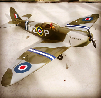 Radio control (RC) electric Spitfire 1270mm wingspan