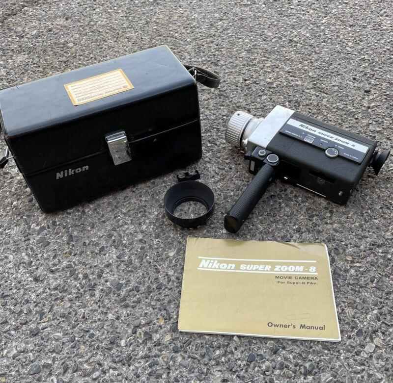 Nikon Super Zoom 8 Movie Camera W/ Original Case and Manuel