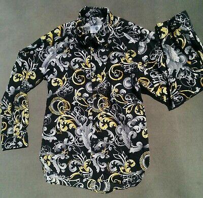 Young Versace Boys Baroque Print Cotton Shirt Age 6