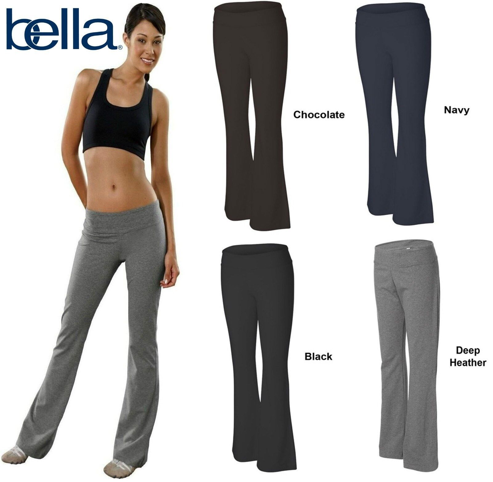 B810 Bella+Canvas Womens Active Wear Cotton Spandex Fitness Pants 810 New!