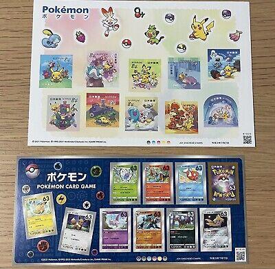Pokemon Greeting Stamp 2 sheets LIMITED Japan Post RARE Item