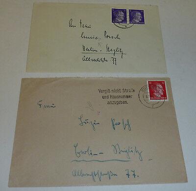 Berlin-Steglitz 2 Briefe 1943 Transorma Codierung Ao + Ar SEHR SELTEN