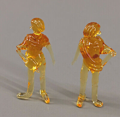 Lalique Twin Angels Figures 4.25 wide x 3.5 tall