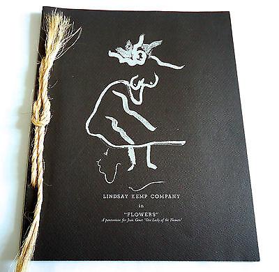LINDSAY KEMP COMPANY Flowers 1987 JAPAN SOUVENIR PROGRAM BOOK w/Photo-sticker