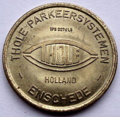 NETHERLANDS ENSCHEDE THOLE PARKEERSYSTEMEN Parking Token 27mm 7.2g Brass GG7.1