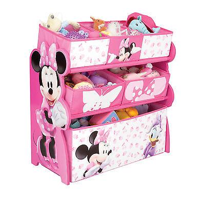 Kinderregal Spielzeugregal Spielzeugboxen Holzregal Disney Minnie Mouse Regal