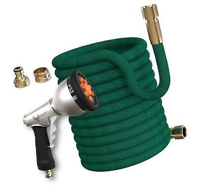PRO FLEX 30 Garden Hose, Brass Connection, Extra Strong ToughRock Nylon Fabri...