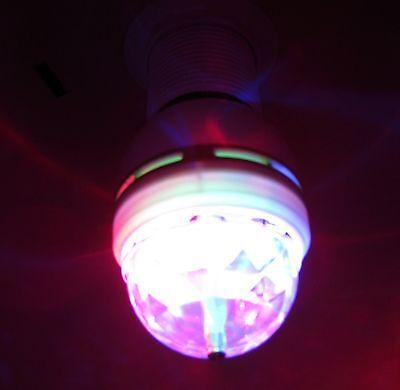 disco kugel gl hbirne led rgb e27 licht effekt rotierend party beleuchtung lampe ebay. Black Bedroom Furniture Sets. Home Design Ideas