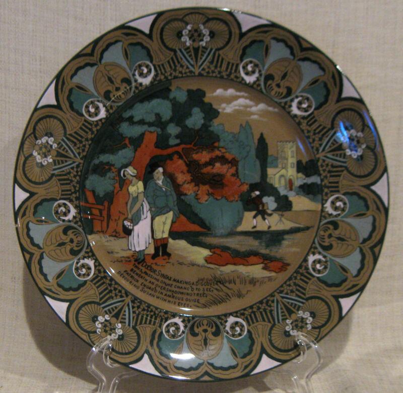"""Buffalo Pottery Emerald Deldare Ware 10"""" Dinner Plate Dr. Syntax"""