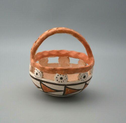 Old Vintage Acoma Pueblo Indian Polychrome Pot Bowl - Mabel Brown (1915-2004)