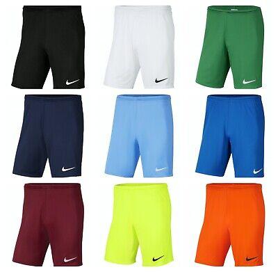 Nike Park III Kids Boys Football Shorts Running Sports Training Junior Dri-Fit