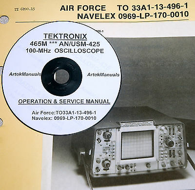 Tek Tektronix 465m Anusm-425 Oscilloscope Operating Service Manual