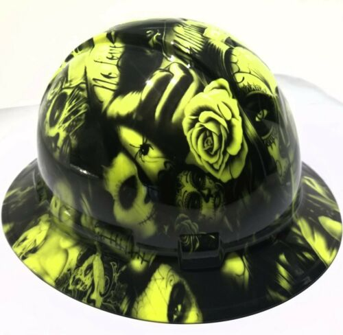 Hard Hat FULL BRIM custom hydro dipped , OSHA approved NO LOVE ALL HUSTLE NEW 1