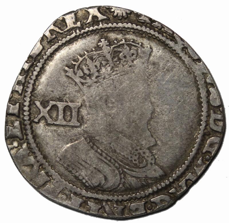 Great Britain James I 1603-1625 AD Silver Shilling S.2655 MM: Escallop