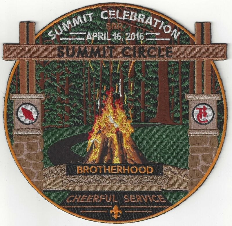 Summit Circle Dedication 2016 backpatch Order of the Arrow National OA Bechtel