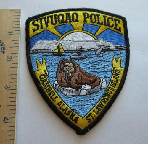 SIVUQAQ POLICE GAMBELL ALASKA PATCH ST. LAWRENCE ISLAND Vintage Original