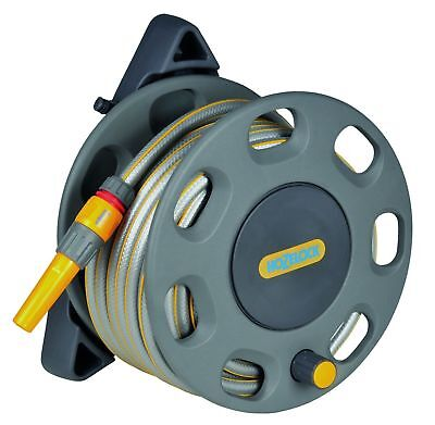 30m Wall Mounted Reel with 15m of Hose Compact Hozelock Garden Pipe New