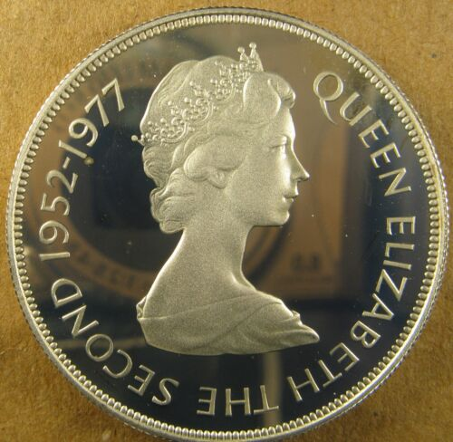 FALKLAND ISLANDS 1977 50 Pence KM 10a Elizabeth II 25th Anniversary Silver Proof