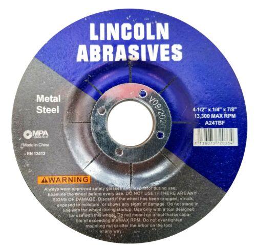 """25 PACK Grinding Wheels 4-1/2"""" x 1/4"""" x 7/8"""" Metal Steel 4.5 Disc Angle Grinder"""